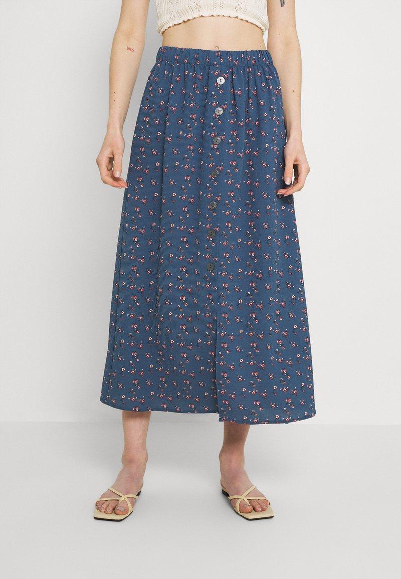 ONLY - ONLNOVA LUX BUTTON SKIRT - A-line skirt - bering sea