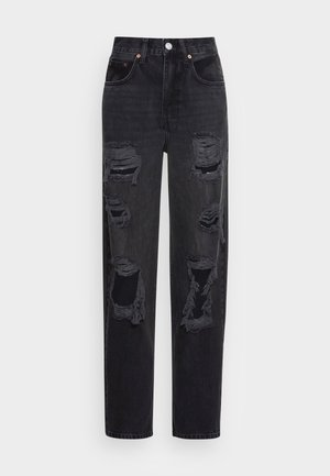 MODERN BOYFRIEND  - Straight leg jeans - black