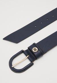 Tommy Hilfiger - HIGH WAIST OVAL BUCKLE BELT - Waist belt - blue - 1