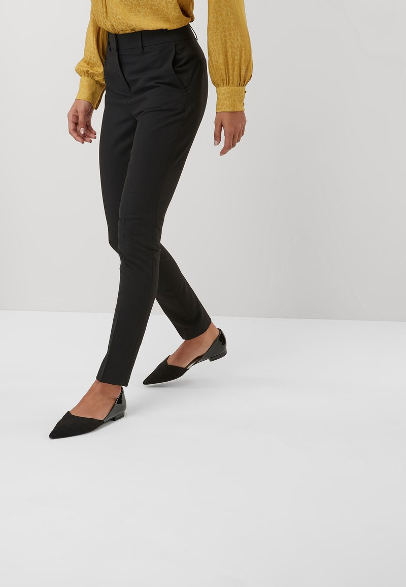 Next - SLIM TROUSERS - Trousers - black