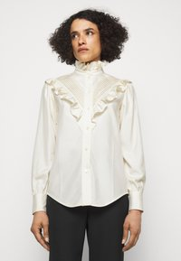 Victoria Beckham - VICTORIAN DETAIL BLOUSE - Button-down blouse - off white - 0