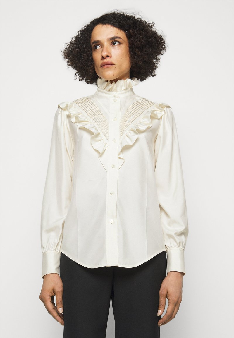 Victoria Beckham - VICTORIAN DETAIL BLOUSE - Button-down blouse - off white
