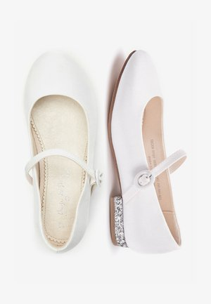 WHITE HEEL MARY JANE SHOES (OLDER) - Ballerinasko m/ rem - white