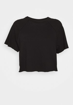 RAGLAN CROP TEE - T-shirt basic - black