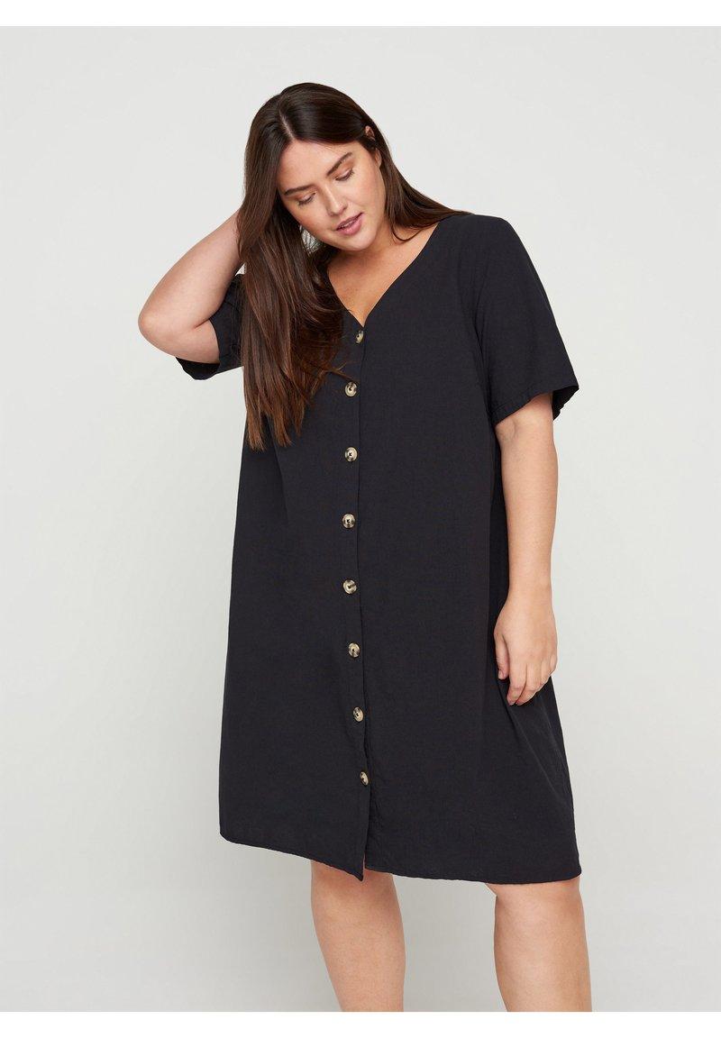 Zizzi - Shirt dress - black