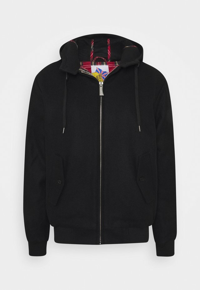 TAYLOR HOODED - Kurtka Bomber - black