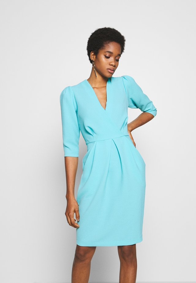 PUFF SLEEVE TULIP DRESS - Day dress - blue