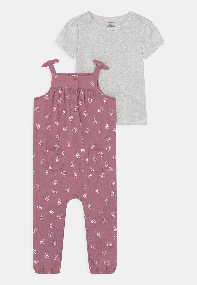 Carter's - DOT SET - Basic T-shirt - lilac