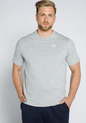 MIT V AUSSCHNITT  - T-shirt basic - grau melange