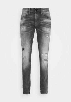 REVEND - Jeans Skinny Fit - vintage ripped basalt