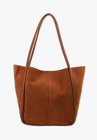 mint&berry - LEATHER - Tote bag - cognac - 5