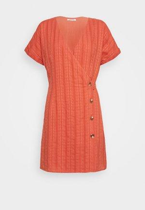 NERYS DRESS - Day dress - rostbraun/rot