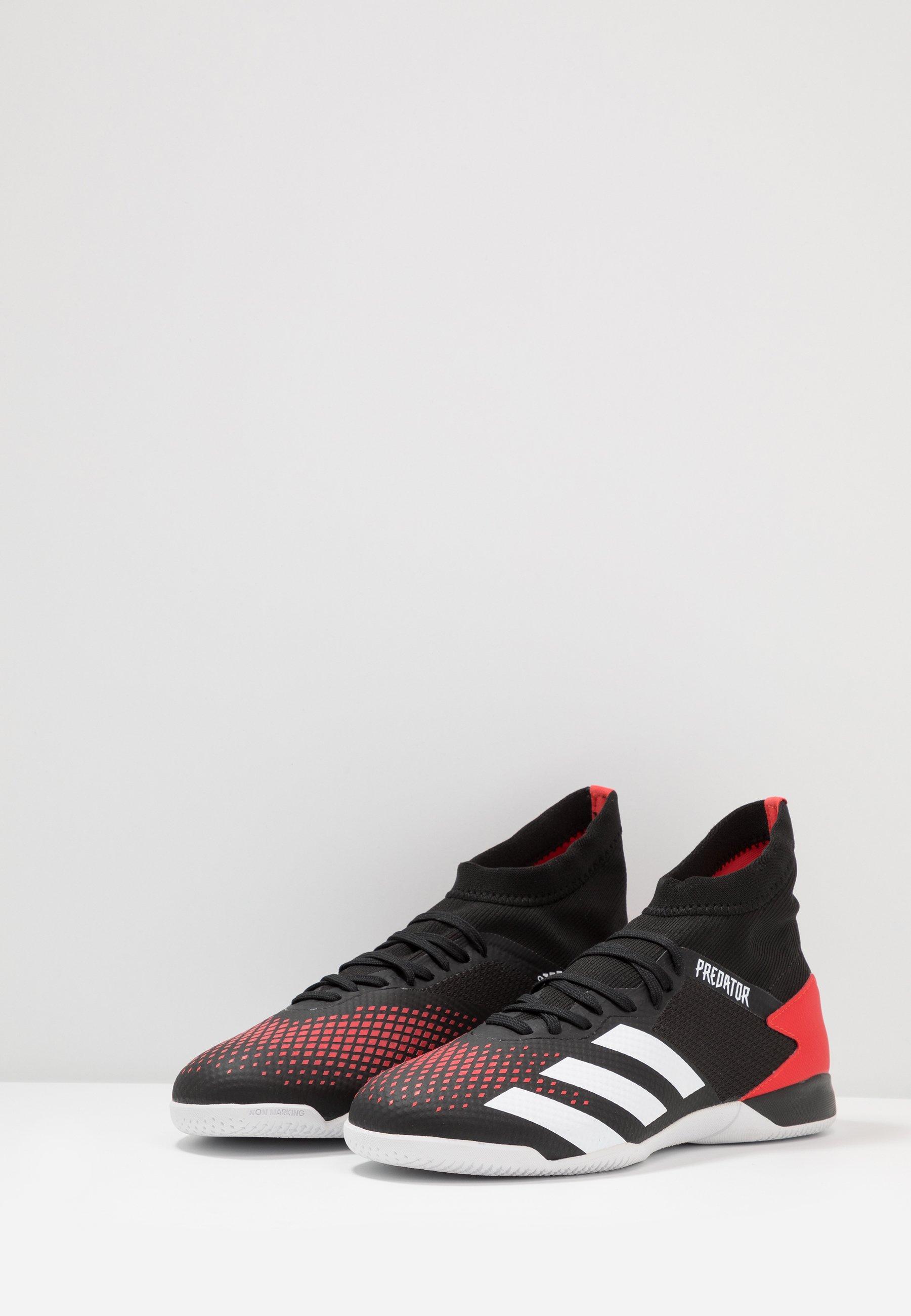 adidas Performance PREDATOR 20.3 IN - Fußballschuh Halle - core black/footwear white/active red/schwarz - Herrenschuhe ve9wH