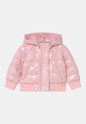 GLITTER HOODED PADDED ZIP UNISEX - Winter jacket - pink palm tree