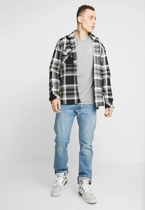 Jordan JUMPMAN AIR TEE - T-shirt basic - carbon heather/white/ciemnoszary melanż Odzież Męska JTSC