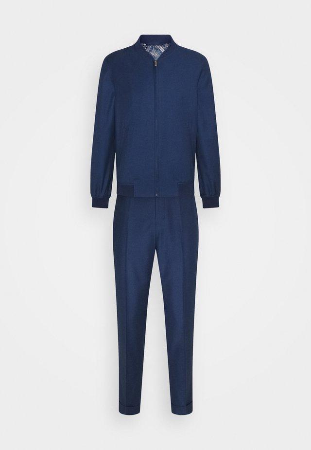 LIGHTWEIGHT DRAWCORD TROUSERS SET - Pantalon classique - dark blue