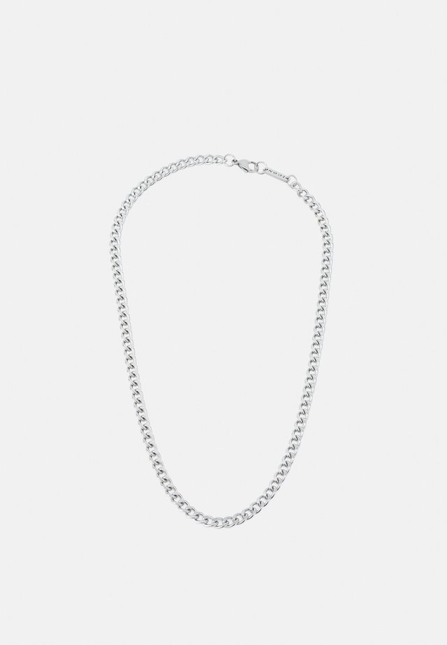CURB CHAIN NECKLACE - Halsband - silver-coloured