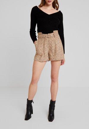 SPOT PRINT - Shorts - tan