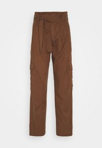 Marc O'Polo DENIM - PANT WIDER LEG TURN UP DETAIL - Stoffhose - coconut shell - 3