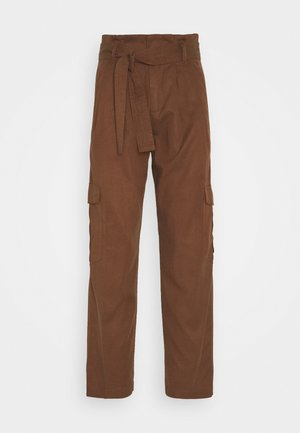 PANT WIDER LEG TURN UP DETAIL - Trousers - coconut shell