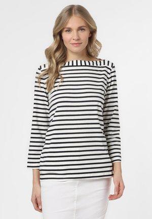 Long sleeved top - marine weiß