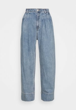 NANI PALAZZO - Jeans straight leg - blue medium dusty
