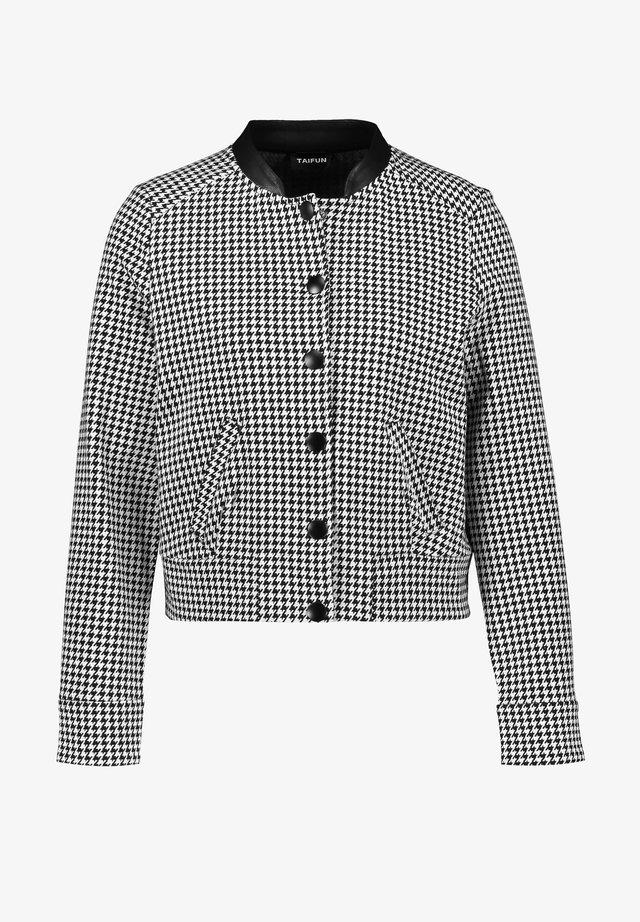 Summer jacket - black gemustert