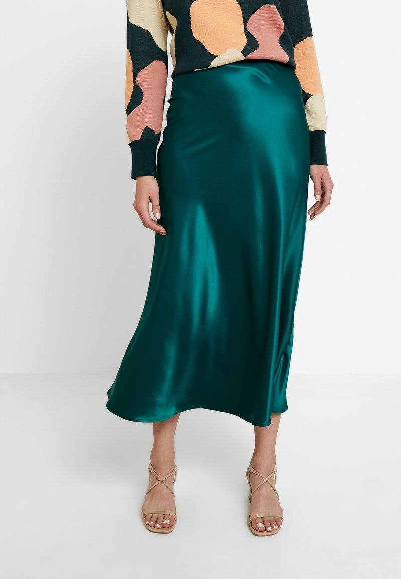 Monki - BAILEY SKIRT - Falda larga - dark green