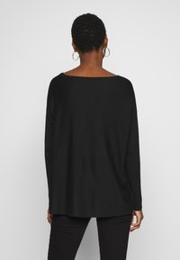 Anna Field - BASIC- RELAXED BOAT NECK JUMPER - Strikkegenser - black - 2