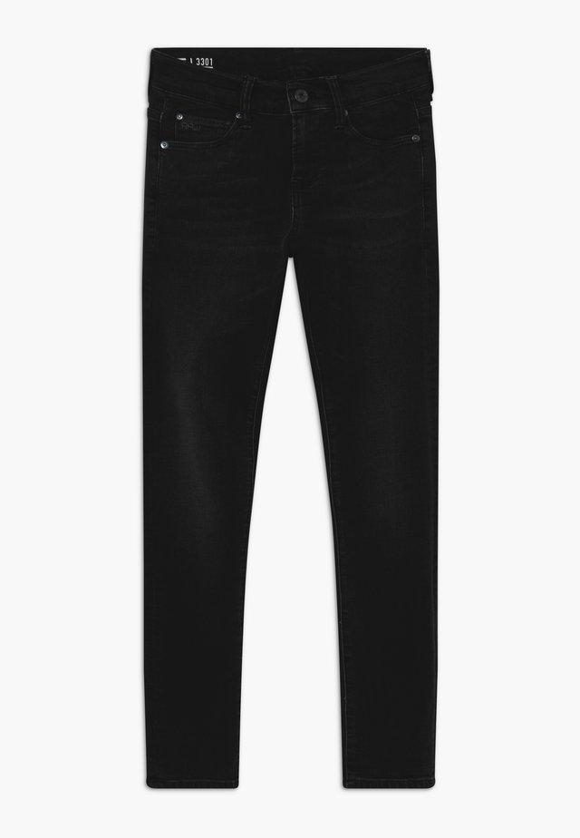 3301 - Skinny džíny - black ice