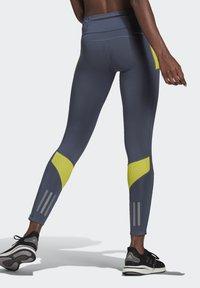 adidas Performance - RESPONSE AEROREADY SPORTS RUNNING LEGGINGS - Tights - legacy blue/acid yellow - 2