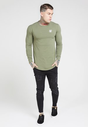 GYM TEE - Long sleeved top - khaki