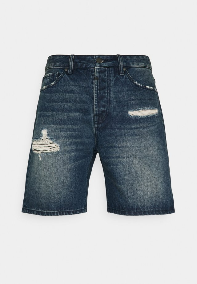LEY - Shorts di jeans - mid blue