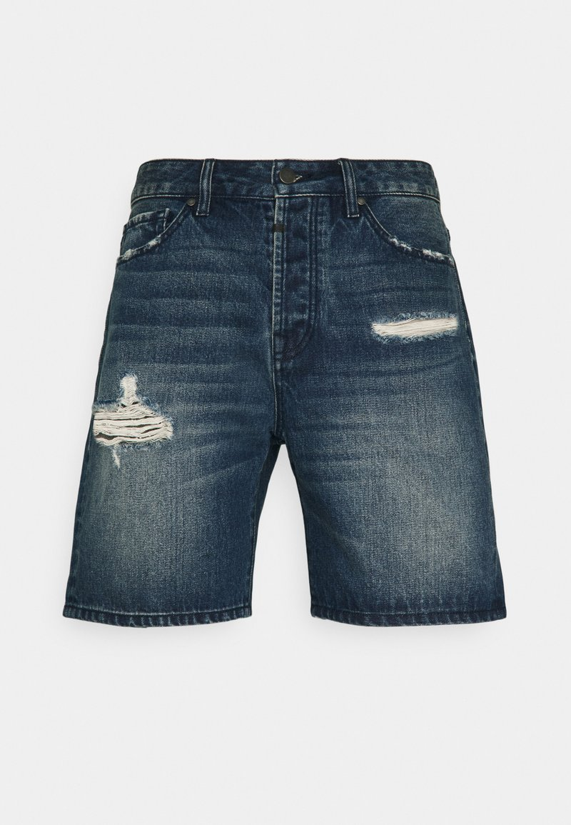 Tigha - LEY - Jeansshorts - mid blue