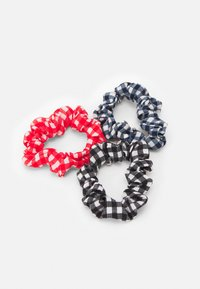 Fire & Glory - VIVIAN BOW SCRUNCHIE 3 PACK - Hair styling accessory - bright white/red/navy - 1