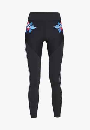 LEGGING WITH FLOWER DETAIL - Legginsy - azul noche