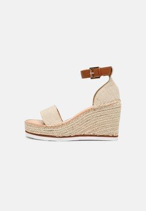 ANASTASIA - Platform sandals - natural
