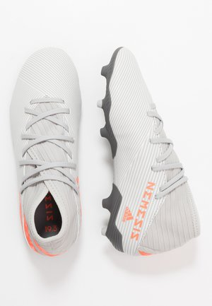 NEMEZIZ 19.3 FG - Moulded stud football boots - grey two/solar orange/white
