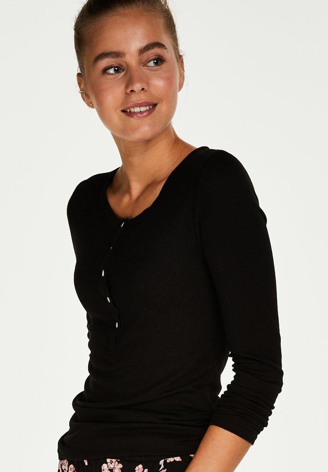 Pyjamashirt - black
