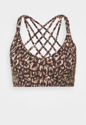 HYBRID CROP - Sports bra - cinnamon