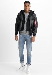 Alpha Industries - Leather jacket - black - 1