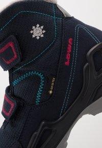 Lowa - MILO GTX MID - Winter boots - navy/magenta - 2