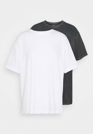 DROP SHOULDER OVERSIZED 2 PACK - Basic T-shirt - black