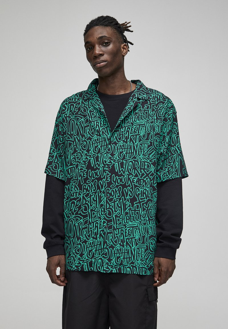 PULL&BEAR - Shirt - green