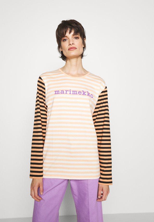 PITKÄHIHA  - Pitkähihainen paita - off white/ apricot/purple
