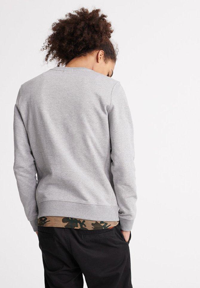 Superdry STANDARD LABEL - Sweatshirt - stone grey marl/grau - Herrenwinterkleidung 8dZ2K