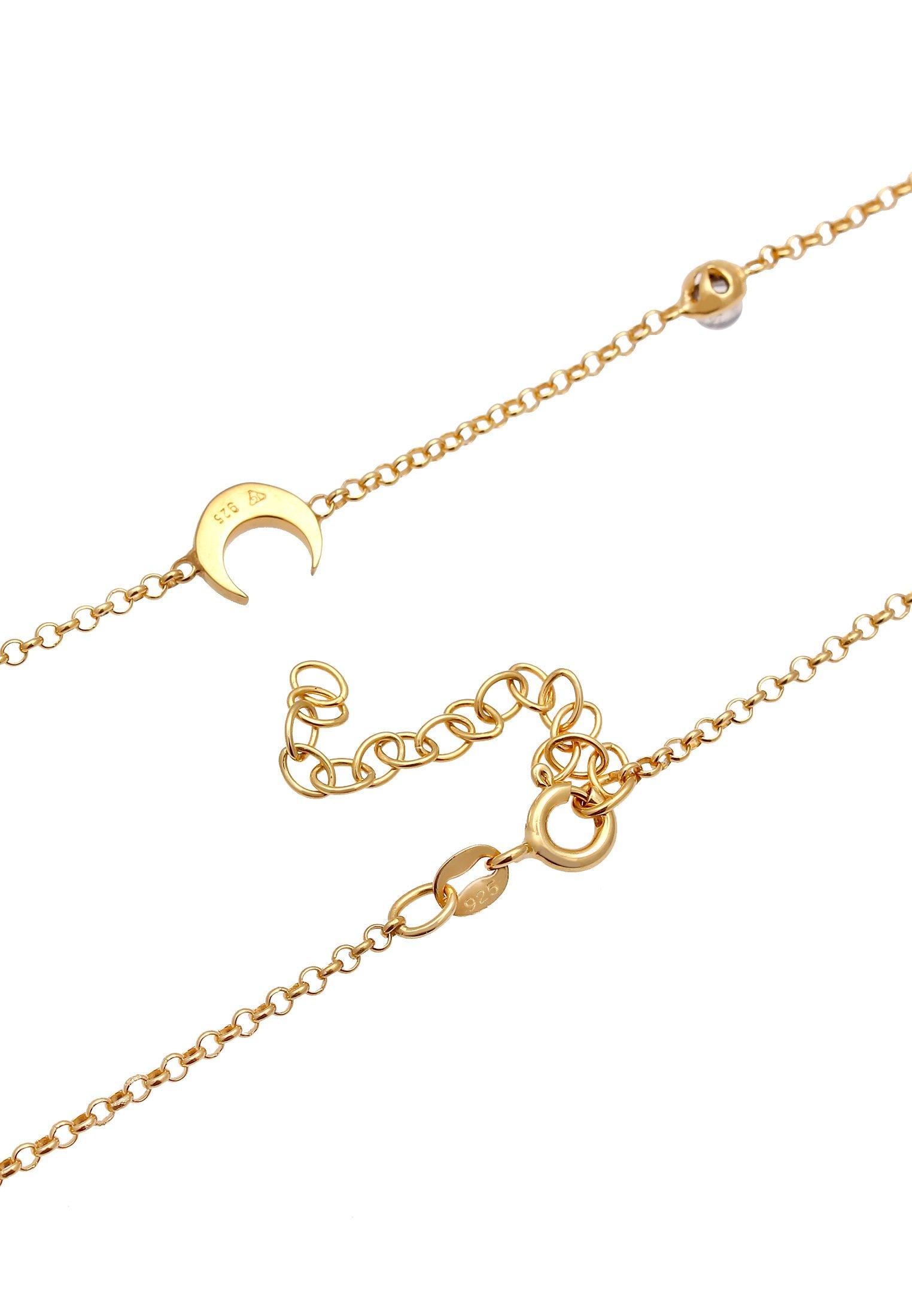 Elli Choker Halbmond Astro - Halskette Gold