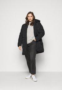 Noisy May Curve - NMFALCON LONG JACKET - Winter jacket - black - 1