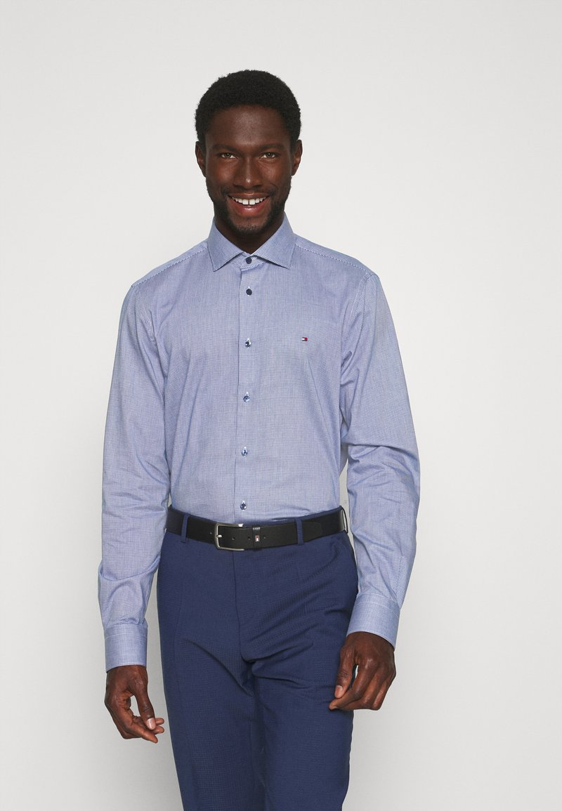 Tommy Hilfiger Tailored - HOUNDSTOOTH CLASSIC - Camisa elegante - blue