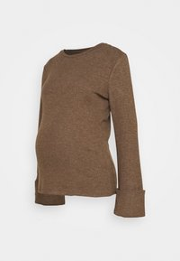Pieces Maternity - PCMHERMIONE - Jumper - taupe - 0